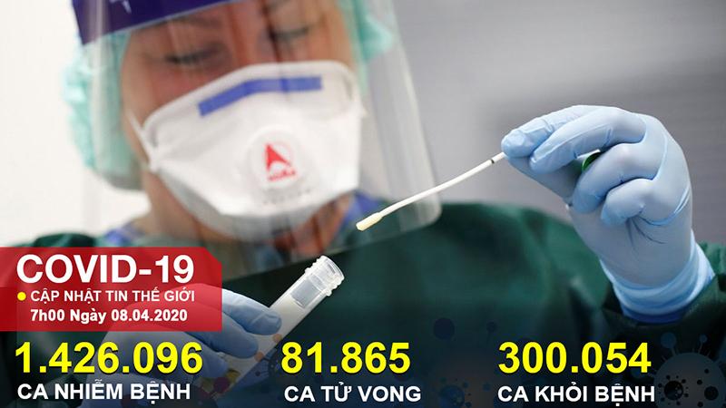 Hơn 1,4 triệu người mắc COVID-19 toàn cầu, 4 quốc gia có số ca tử vong vượt 10.000