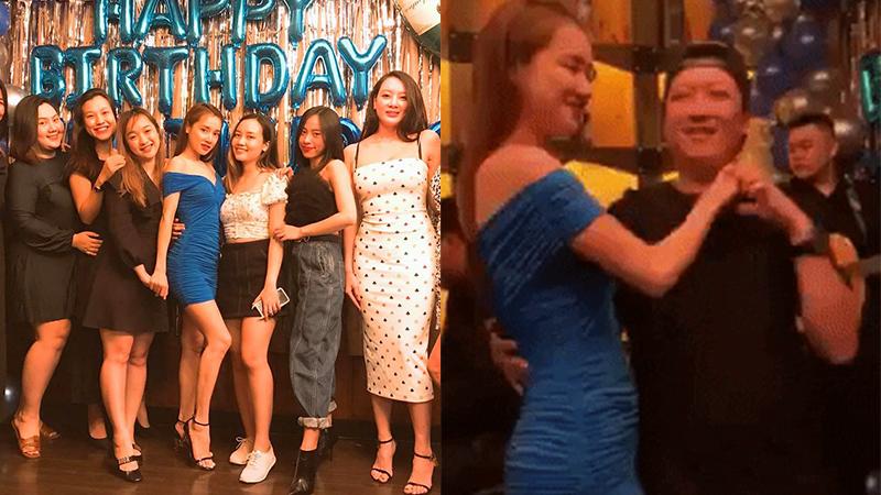 Nhã Phương diện váy bó sát sang chảnh trong sinh nhật tuổi 30 nhưng Trường Giang lại bất ngờ 'lệch tông' vì diện dép tổ ong khiêu vũ