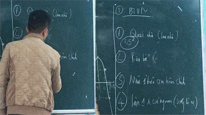 Thầy giáo môn Toán đưa hẳn 4 bài tập về nhà, học trò đọc xong mà chỉ nghĩ về mẹ