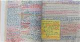 Choáng với sách giáo khoa của dân chuyên Văn: Chằng chịt ghi chú, nhìn qua đã thấy chóng mặt