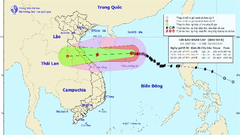 Bão số 8 gây mưa to thế nào khi trực tiếp đổ bộ vào miền Trung trong ít giờ tới?