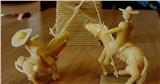 Tác phẩm điêu khắc tuyệt đẹp từ mì ống của nghệ nhân Nga