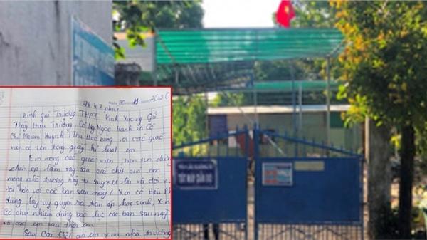 Nữ sinh lớp 10 để lại 'thư tuyệt mệnh' rồi tự tử vì sức ép kỷ luật?