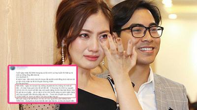 Thông tin vụ ly hôn của Thanh Bình - Ngọc Lan bất ngờ được hé lộ thông qua một đoạn status 'chỉnh đi sửa lại'?