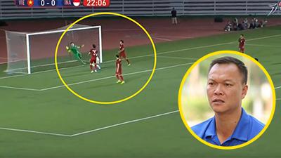 Cựu thủ môn Dương Hồng Sơn thắng thắn chỉ trích sai lầm của Bùi Tiến Dũng: 'Pha bóng đó không có gì nguy hiểm'