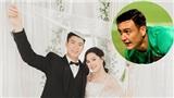 Văn Lâm liên tục bị fan giục cưới khi chúc mừng Duy Mạnh lấy vợ