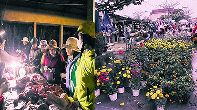 Cảnh tượng trái ngược chợ Tết: Quầy thịt lợn đông như đại hội, hàng hoa ế ẩm, giá giảm mạnh vẫn vắng khách