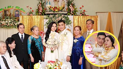 Bên trong đám cưới của cặp đôi được chị gái tặng 49 cây vàng: Tổ chức ở quê, tất cả choáng váng khi thấy quà của chị cô dâu!