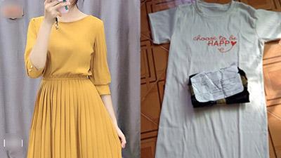 Mua online được cam kết 'hàng hiệu giá tốt', cô gái khóc thét khi nhận về váy giẻ lau nhàu nhĩ, tìm hiểu kỹ hơn mới vỡ lẽ đây là shop chuyên lừa đảo!