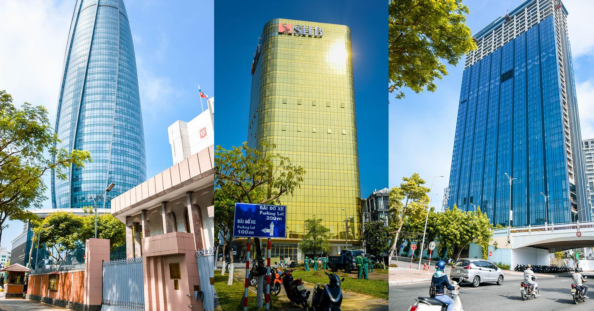 Cận cảnh các tòa nhà ở Đà Nẵng: Khác biệt với tòa nhà 'dát vàng' hắt nắng chói mắt người đi đường