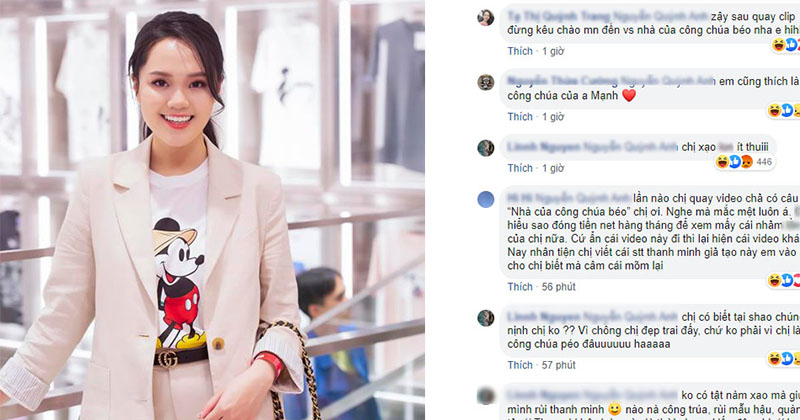 Đáp trả tin đồn, Quỳnh Anh bất ngờ bị chỉ tríchkhi khẳng định 'mình chưa từng nghĩ mình là công chúa, vẫn khiêm tốn'