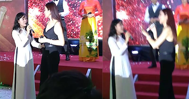 Hy hữu ở Đà Nẵng: MC đang say mê giới thiệu chương trình thì khách mời xông thẳng lên sân khấu 'tố' BTC