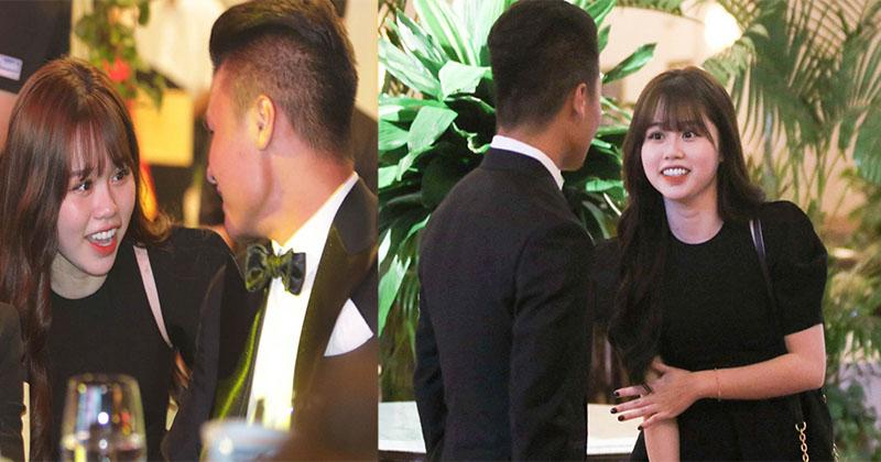 Quang Hải bất ngờ đưa bạn gái đến Lễ trao giải Quả bóng vàng Việt Nam 2020