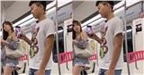 Say nắng hotgirl trên tàu điện ngầm, chàng trai giơ điện thoại chụp lén bị phát hiện và cái kết