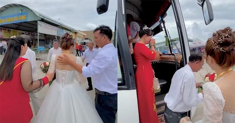 Cô dâu 19 tuổi và mẹ bật khóc nức nở giây phút chia tay khiến ai cũng cay cay nơi sống mũi