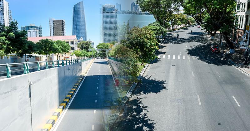 Trung tâm TP. Đà Nẵng ngay sau giãn cách: Đường phố không bóng người, cấm đến nơi công cộng