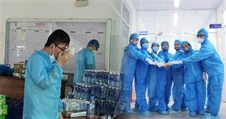 CHÙM ẢNH: Cuộc sống bên trong khu phong tỏa của các cán bộ y tế BV Đà Nẵng