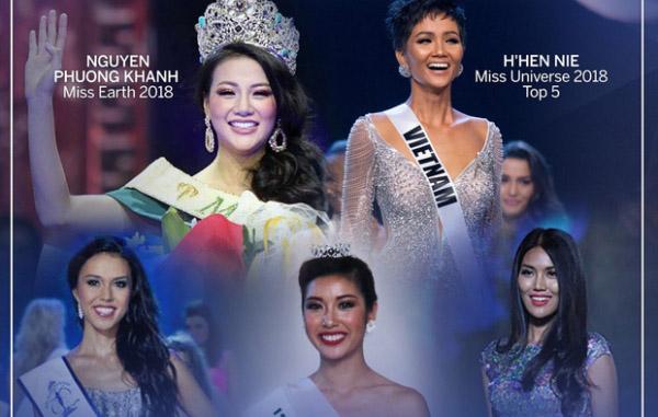 H'Hen Niê, Thúy Vân, Lan Khuê... là những người đẹp sở hữu thành tích cao nhất tại các cuộc thi nhan sắc quốc tế trong thập kỷ vừa qua