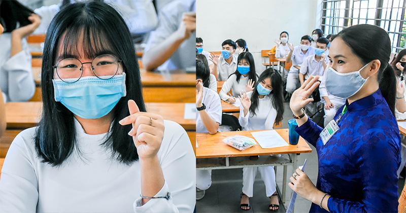 Học sinh Đà Nẵng 'thả tim' ngày đầu trở lại trường sau thời gian dài ở nhà tránh dịch