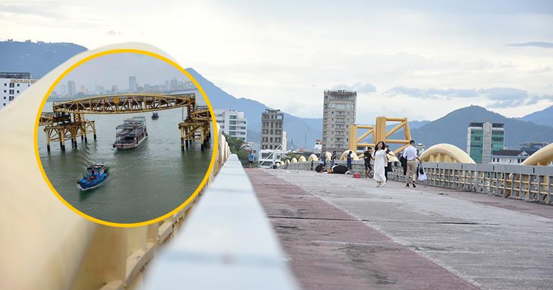 Bất ngờ 'nổi tiếng' do sự kiện hy hữu trong bão số 5, cây cầu ở Đà Nẵng thành điểm đến hot
