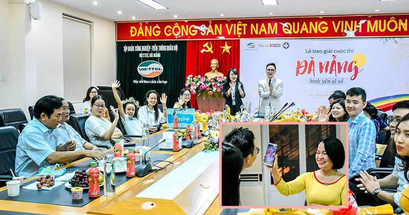 Cuộc điện thoại bất ngờ trong Lễ trao giải kết nối 2 điểm cầu cuộc thi 'Đà Nẵng - Bình yên sẽ về'