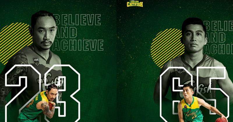 Dàn cầu thủ Cantho Catfish vừa 'nhá hàng' trên poster giới thiệu chính thức