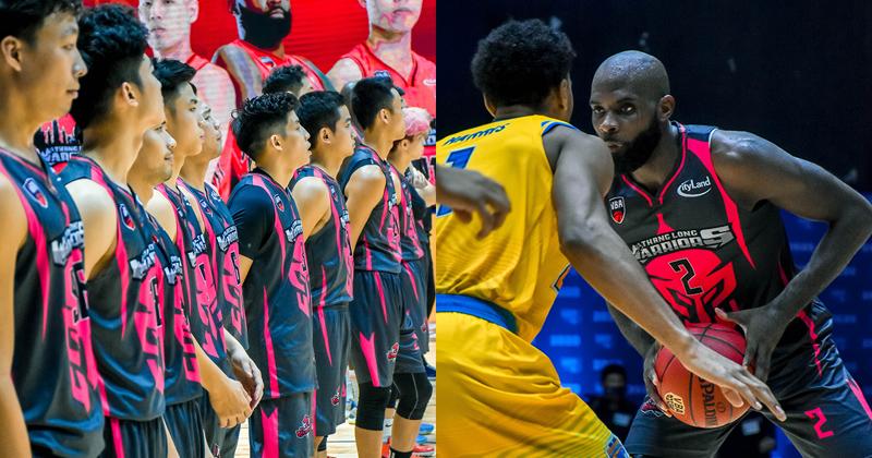 Đồng phục mới của Thang Long Warriors nổi bật dưới hiệu ứng ánh sáng sân VBA Arena