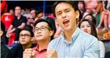 MC Quang Bảo điển trai trên khán đài VBA Arena, cổ vũ đội Thang Long Warriors