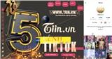 TikTok Tiin.vn lọt Top 5 kênh TikTok Tin tức xuất sắc nhất 2020