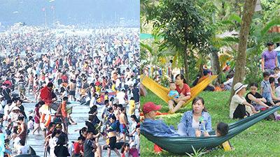 'Choáng váng' cảnh các điểm du lịch 'thất thủ' ngày nghỉ lễ thứ hai