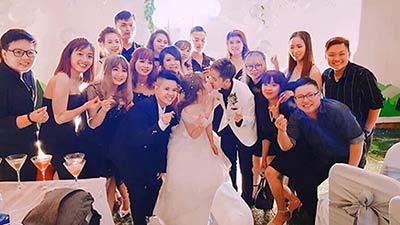 Sau đám cưới ở Mỹ, Di Bảo và Múi Xù thuê biệt thự sang trọng đãi tiệc lần 2