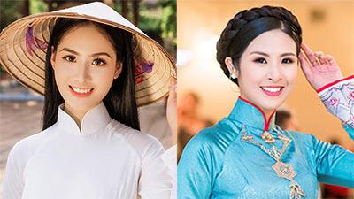 Diện áo dài trắng, nữ sinh 10X được chú ý vì quá giống Hoa hậu Ngọc Hân
