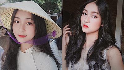 Diện áo dài đội nón lá, nữ sinh 10x được mệnh danh là người kế nhiệm 'nàng thơ xứ Huế'