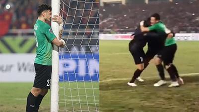 Pha ăn mừng của 3 chàng thủ môn tuyển Việt Nam trước khung thành khiến nhiều người xúc động