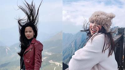 Mặc hội bạn thân bị gió quất tơi tả, hot-girl vẫn khiến cộng đồng mạng mê mẩn vì đẹp bất chấp thời tiết