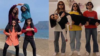 4 cô bạn thân nổi tiếng chỉ vì loạt ảnh du lịch siêu lầy lội