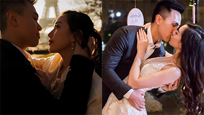 Hot girl Mie Nguyễn khoe ảnh cưới ngọt ngào tại Paris khiến fan mong ngóng đám cưới của cặp đôi