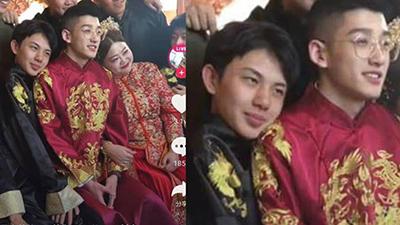Cặp đôi 'đũa lệch' nổi tiếng Trung Quốc làm đám cưới, dân mạng được phen cười bò vì xuất hiện 'kẻ cơ hội' này