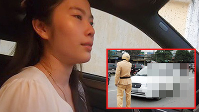 Vi phạm giao thông, bị cảnh sát yêu cầu 'đừng diễn nữa', Nam Em tổn thương khóc nức nở