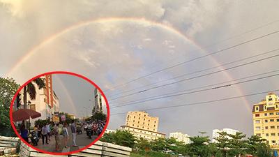 Sài Gòn chưa mưa vẫn thấy cầu vồng 7 sắc, dân tình kháo nhau 'chắc điềm lạ'