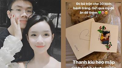 Tình yêu Rich Kid: Thiếu gia Phan Hoàng được bạn gái tặng 30 bịch bánh tráng trộn ship từ VN sang Mỹ