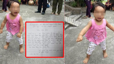 Bé gái hơn một tuổi bị bỏ rơi ở chùa, hình ảnh nhảy nhót cười đùa khiến nhiều người xót xa