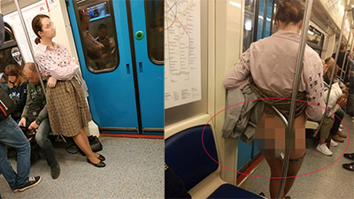 Yêu cầu hành khách khác nhường chỗ nhưng bị cự tuyệt, người phụ nữ có hành động phản cảm gây phẫn nộ