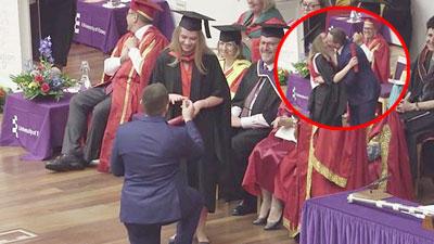 Cầu hôn trong ngày bạn gái tốt nghiệp cao học, chàng trai nhận được cái gật đầu đáng giá nhưng bị dân mạng bị trích ích kỷ
