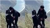 Đứng trên vách núi cheo leo ở Hà Giang, chàng trai tỏ tình nhận về chỉ trích: 'Muốn chết cùng nhau?'