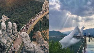 Trung Quốc khai trương cầu mới trông y chang Cầu Vàng Việt Nam