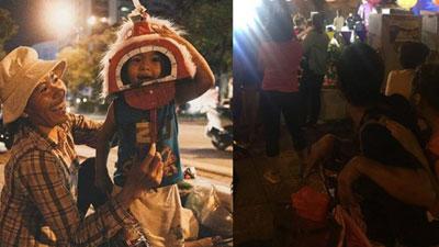 Ông bố nhặt ve chai cho con đi chơi Trung thu và hình ảnh khiến cô gái lặng người