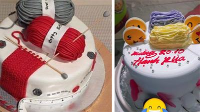 Lấy ảnh trên mạng để đặt bánh sinh nhật tặng vợ, nào ngờ cái kết không biết nên khóc hay nên cười