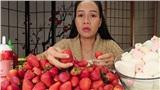 Vinh Nguyễn Thị - Vlogger 'cực phẩm' gây sốt nhất hiện nay ăn 1 quả dâu làm clip cám ơn hơn chục người