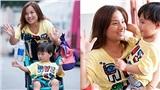 Những hình ảnh đầu tiên của bé Sa tại Việt Nam: Mẹ con mặc áo đôi, Sa vui vẻ 'chào cô chú, chào các bạn'